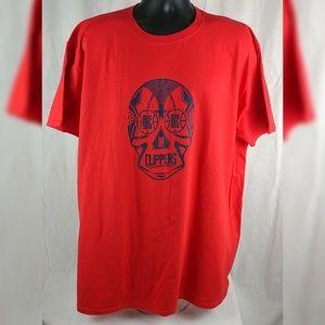 LA Clippers Shirt 2XL Sugar Skull Luchador